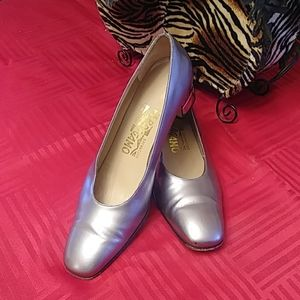 Salvatore Ferragmo Silver Heels 7